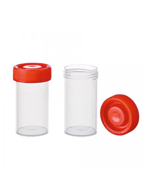 FLACON PRELEV.PLAST.40 ML QUALIBACT® CAPE ROUGE (X 800)