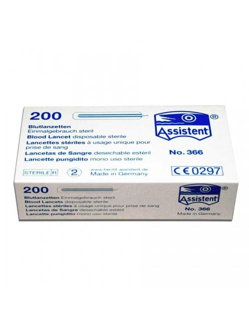 LANCETTE STERILE POINTE NORMALE (LES 200)