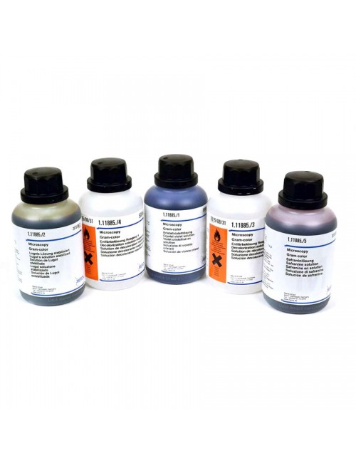 KIT GRAM - HUCKER BACTERIO ACTION RAPIDE (R1+R2+R3+R4) 4 X 240ML*