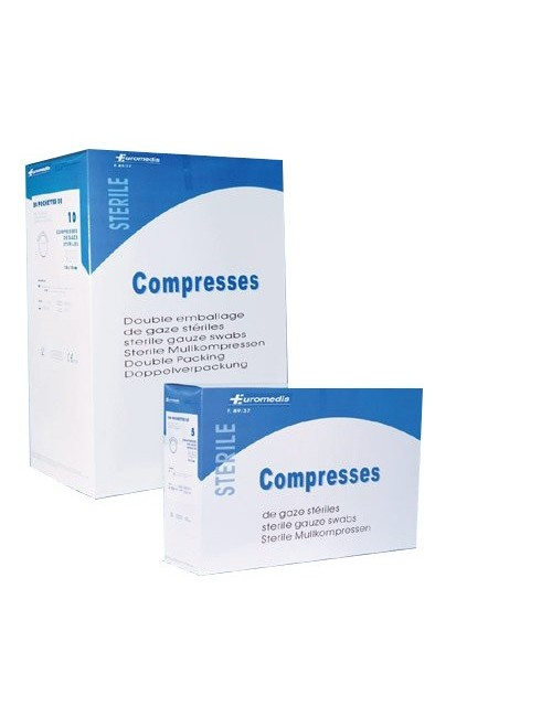 COMPRESSE GAZE STERILE 17 FILS 12 PLIS 10X10CM (20 X 5)