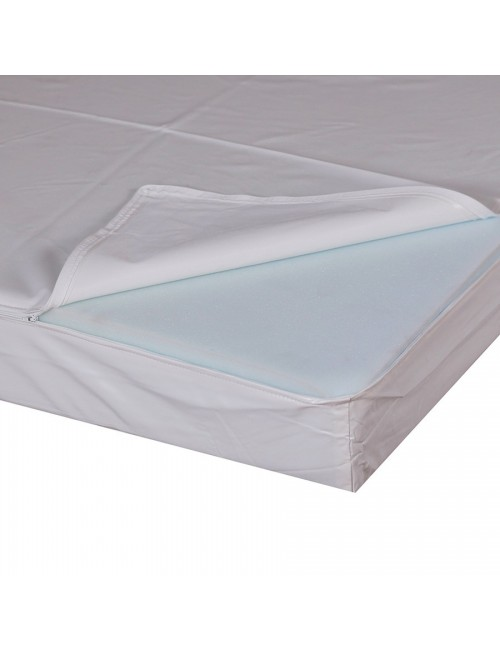 HOUSSE BLANCHE PVC 15/100 P/MATELAS 502046