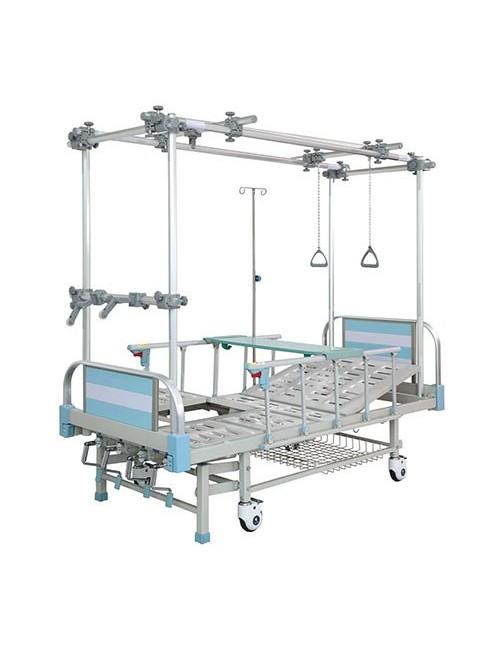LIT D'HOSPITALISATION HYDRAULIQUE  - 3 MOUVEMENTS EQUIPE ORTHOPEDIQUE ET MATELAS
