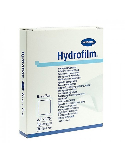 HYDROFILM PANSEMENT ADHESIF+FILM PE STERILE 6X7CM (X 100)
