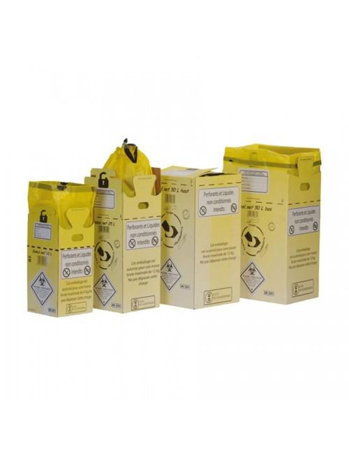 CAISSE CARTON P/DASRI A/SAC PLASTIQUE JAUNE - 50L (X 10)