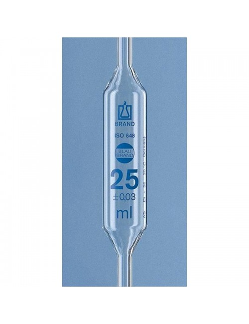 PIPETTE JAUGEE 2 TRAITS - 25 ML
