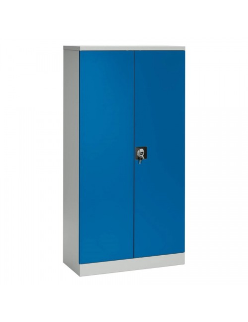 ARMOIRE METALLIQUE UNION 2 PORTES BATTANTES BLEUES