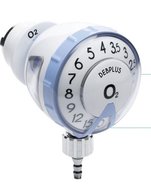 DEBIMETRE O2 DEBPLUS 15 L/MIN - SORTIE 12X125M +EMBOUT DIRECT + TÉTINE