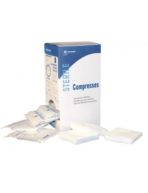 COMPRESSE STERILE 17F / 12 PLIS  SACHET INDIV. 7,5 X 7,5 CM (X 100)