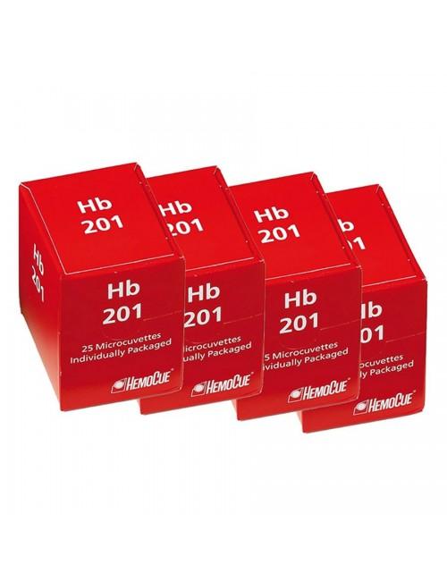 MICROCUVETTE POUR HEMOCUE HB201+ (FLACON  4 X 50)