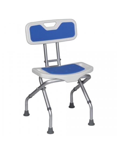 SIEGE DOUCHE DOS PLIANT BLUE SEAT