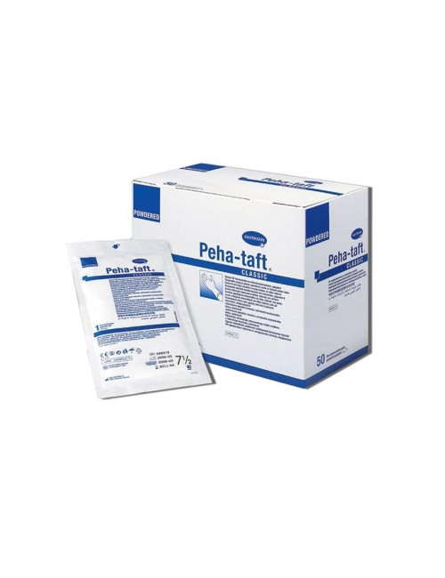 DISCOUNTINUED GANTS CHIRURGIE STERILE LATEX  T. 7,5 PEHA TAFT CLASSIC (X 50 PAIRES)
